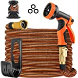 OUTZEST 50ft Expandable Garden Hose, Leakproof Lightweight Water Hose with 9 Functions Sprayer and Super Durable 3750D Fabric