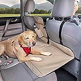 Kurgo K01137 Dog Backseat Bridge Car Extender  Padded Pet Car Barrier   Reversible   Water Resistant   Universal Fit   Cup Ho