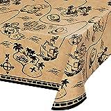 """Creative Converting Treasure Island Pirate Plastic Tablecloth, 1 ct Multi Color, 22"""""""