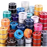 144 Pieces Prewound Bobbins Sewing Thread Bobbins Compatible with Brother/Babylock/Janome/Elna/Singer Embroidery Machine, Siz