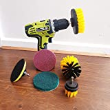 ZINGOORIA | 6 Pcs Drill Brush Set for Cleaning | Grout Cleaning Brush | Carpet Brush | Tyre Brush | Car Cleaning Kit | Power