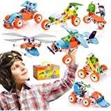 STEM Learning Toy For Boys Age 7-12 - 132 Pcs - Erector Set Mechanical Educational Construction Engineering Building Toy Set