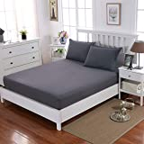 """Fitted Sheet Extra Deep 16""""(40cm) Bedding Fitted Sheet Brushed Microfiber Breathable Wrinkle Resistance"""