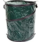 Collapsible Trash Can- Pop Up 33 Gallon Trashcan for Garbage With Zippered Lid By Wakeman Outdoors -Ideal for Camping Recycli