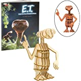 E.T. The Extra-Terrestrial Wood Model Figure Kit - Build, Paint and Collect a 3D ET Toy Model - with Exclusive E.T. Movie Boo