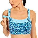 SYROKAN Women's Bounce Control Wirefree High Impact Maximum Support Sports Bra