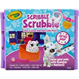 CRAYOLA 74 7367 Scribble Scrubbies Pets Glam Shop, Stamper Markers, Pets, Colour & Customise, Washable, Great Kids!