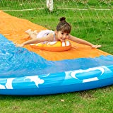 JOYIN 20ft x 62in Slip and Slide Water Slide with 2 Bodyboards, Summer Toy with Build in Sprinkler for Backyard and Outdoor W