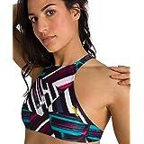 arena Women's Rule Breaker Think Crop MaxLife Bikini Top