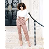 The Drop Women's Caramel Paperbag-Waist Cropped Pant by @scoutthecity