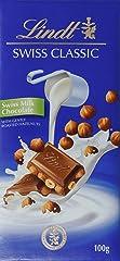 Lindt Swiss Classic Milk Hazelnut Chocolate, 100g