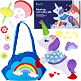 Sewing Kit for Kids - Learn to Sew Your Own Unicorn Toy with Accessories - Arts & Crafts Gift for Girls Ages 7 8 9 10 11 12 -