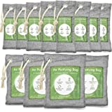 12 Pack Bamboo Charcoal Air Purifying Bag, Activated Charcoal Bags Odor Absorber, Moisture Absorber, Natural Car Air Freshene