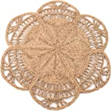 100% Natural Hand Woven Jute Round Area Rug, Natural Round Jute Rug, Farmhouse Style Braided Kitchen Area Rug, Grass Rug for