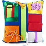 Fidget Blanket | Calming & Comforting Activities for Adults with Dementia | Sensory Pillow | Dementia Blanket for Seniors | H