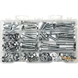 Heavy Duty Nut & Bolt Assortment Kit 172 Pieces Includes 9 Most Common Sizes