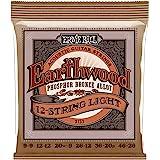 Ernie Ball P02153 Earthwood 12-String Light Phosphor Bronze Acoustic Guitar Strings, Light