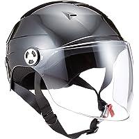 リード工業(LEAD) バイクヘルメット ハーフ シールド付 ブラック RE41 LL -