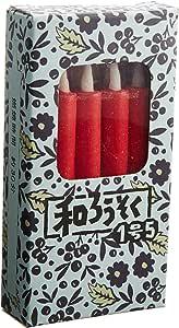 和ろうそく 1号5(赤) 箱入り (10本)