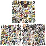 150 Pcs Mixed Anime Stickers, Waterproof Naruto Stickers My Hero Academia Demon Slayer Skateboard Laptop Stickers for Teens L