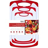Raj Plastic Cutting Board Reversible Cutting board, Dishwasher Safe, Chopping Boards, Juice Groove, Large Handle, Non-Slip, B