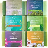 O Naturals 6-Piece Green Tea Herbal Essential Oils Natural Bar Soap Collection Moisturizing Face & Body Cleanser Anti Acne Gi