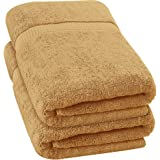 Utopia Towels - Luxurious Jumbo Bath Sheet (35 x 70 Inches, Beige) - 600 GSM 100% Ring Spun Cotton Highly Absorbent and Quick
