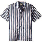 Nudie Jeans Mens Svante Cuban Stripe Short Sleeve Shirt