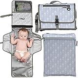 Portable Changing Pad Extra Large | Baby Changing Pad | Travel Diaper Changing Pad | Foldable Baby Changing Station | Bonus W