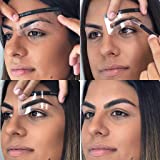 MADLUVV Best Eyebrow Shaping Stencil Kit, Set Of 6 Plastic Reusable Stencils For Semi Permanent Microblading Tattoo & Makeup
