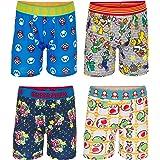 Nintendo Boys BABP3424 Mario Athletic Boxer Brief Underwear - Multi