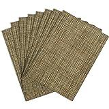 Benson Mills Tweed Woven Vinyl Placemats, Set of 8 Set of 8 Natural