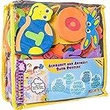 Foam Bath Toys 100% Non-Toxic Preschool Alphabet – Best Baby Bath Toys Toddlers Kids Girls Boys - Premium Educational Floatin