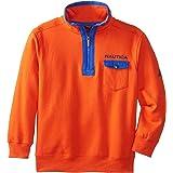 NAUTICA Boys' Fleece Quarter-Zip Sweatshirt