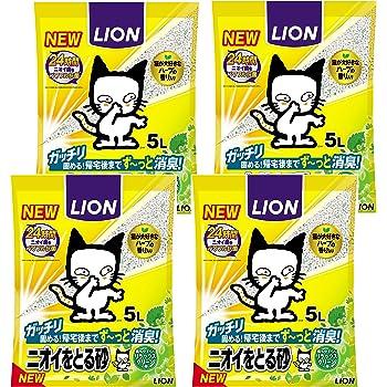 ニオイをとる砂 リラックスグリーンの香り 5L×4袋 (ケース販売)