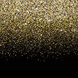 Black and Gold Photo Booth Backdrop Banner - Perfect Party Decoration for Birthday, New Year's Eve, Bachelorette, Weddings, C