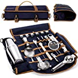 Mixology Bartender Kit - 22 Pieces Complete Barware Tool Sets with Cocktail Shaker | Bar Tools Bartender Tool Kit in Foldable
