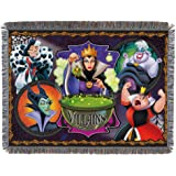 "Disney-Pixar's Villains, ""Vile Villains"" Woven Tapestry Throw Blanket, 48"" x 60"", Multi Color"