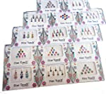 12 Assorted Bindi Packs Different Designs Bindi Packs Face Jewels Mix Combo Indian Tika