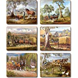 Cinnamon CMC382 Working Horses Coasters