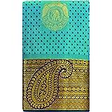SARAVANABAVA SILKS Women's Kanchipuram Pure Pattu Tradition Silk Saree Jari Border Body Big Butta Work (SRBS00P816)