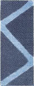 プレーリー そそぎ染め(注染)手ぬぐい 大小あられ 紺 33×90cm TE-194-B