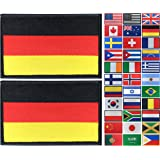 JBCD 2 Pack Germany Flag Patch German Flags Tactical Patch Pride Flag Patch for Clothes Hat Patch Team Military Patch