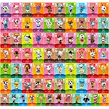 Animal Crossing New Horizons Game Rare Villager Amiibo Cards New Leaf,72 pcs NFC Game Cards with Crystal Case, Festival Card
