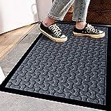 Extra Durable Door Mat Outdoor/Indoor - Non-Slip Entry Door Mat (30 x 18) - Easy Clean Front/Back Door mat - Rubber Doormat O