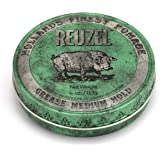 Reuzel - Green Grease Medium Hold Pomade - Works Well with Normal to Thick Textured Hair - Controls the Curliest Most Thickes