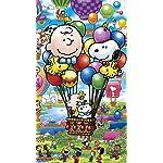 スヌーピー iPhone SE/8/7/6s(750×1334)壁紙 PEANUTS スヌーピー バルーンフライト