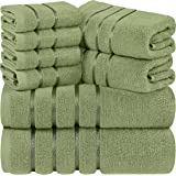 Utopia Towels - Viscose Towels Set - 27 x 54 Inches - Premium 600 GSM 100% Ring Spun Cotton