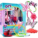 JOYIN DIY Girl 12 Satin Fashion Headbands Kids Art and Crafts Kits, Girls Jewelry Making Kit-Decorated with Hair Accessories