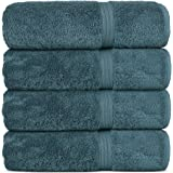 Chakir Turkish Linens Long-Staple Turkish Cotton Towel Set (Bath Towel, True Blue)